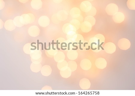 Abstract Decorative gold background with sparkling, Soft focus, greeting holiday card, festive frame, magic lights, shiny wallpaper - stock photo