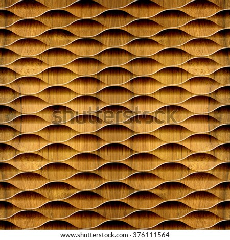 Abstract decorative lattice - Interior wall panel pattern - Geometric shapes - guilloche patterns - seamless background - Cherry wood texture - stock photo