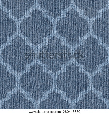 Abstract decorative texture - seamless background - blue jeans textile - stock photo