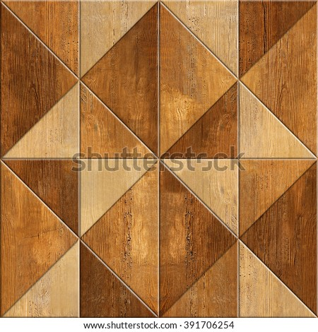 Abstract decorative texture - seamless background - wood texture. Wallpaper texture background. Fine natural structure. Interior Design wallpaper. Different colors. Repeating triangle pattern - stock photo