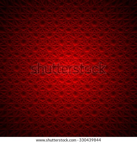 Abstract Deep Red Mandala background - stock photo