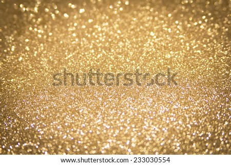 abstract defocused gold background, christmas - stock photo