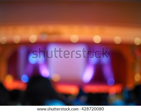 Abstract defocused of theater lighting