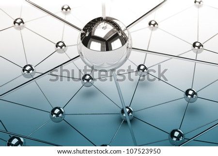 Abstract demonstration of network and communication - 3D
