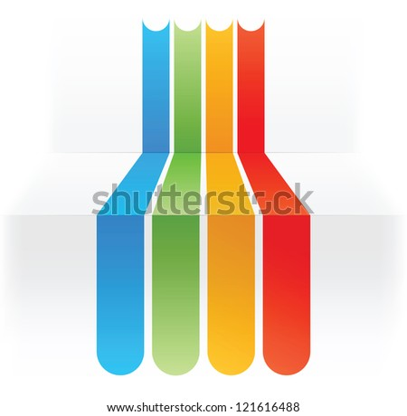 abstract design - colorful lines background