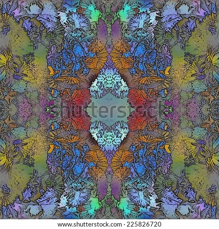 abstract design, floral elements - stock photo