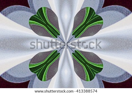 abstract design in various shades of brown, white and green colors