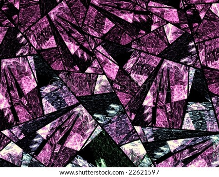Abstract design looking like a stained glass window - stock photo