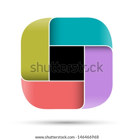 Abstract design - minimalistic style. Raster version - stock photo