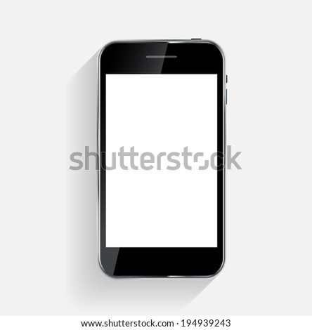 Abstract Design Mobile Phone.  Illustration