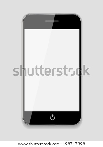 Abstract Design Mobile Phone.  Illustration. - stock photo