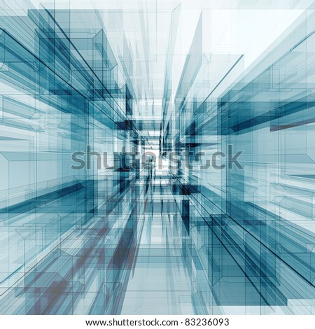 Abstract design. Modern architecture background - stock photo