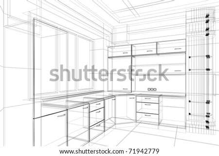 furniture design sketches png. abstract design sketch of kitchen interior furniture sketches png