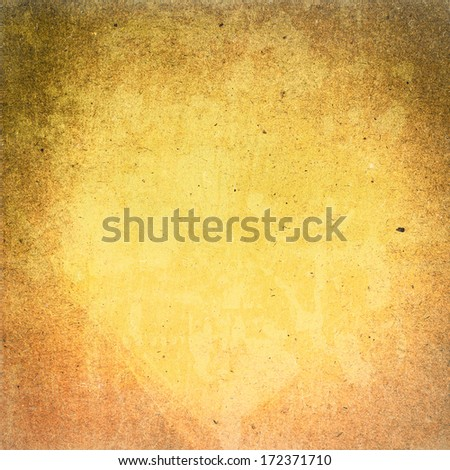 Abstract Designed  detailed grunge paper textured background. High resolution recycled colorful sun yellow cardstock. Paper vintage  background - stock photo