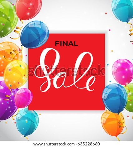 Abstract Designs Final Sale Banner Template with Frame.  Illustration
