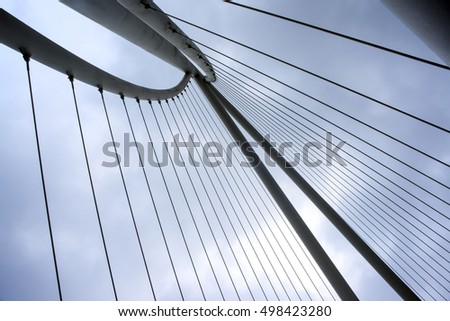 Abstract detail of  bridge, Modern  architecture