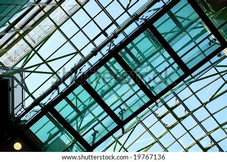 Abstract detail of modern building. Europe. - stock photo