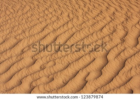 Abstract detail of sand in the dunes of Eastern Sahara - stock photo