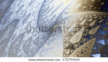 Abstract detailed light blue and light brown background with a detailed spiraling pattern on it - stock photo