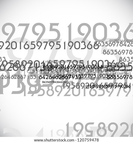 abstract digit background - stock photo