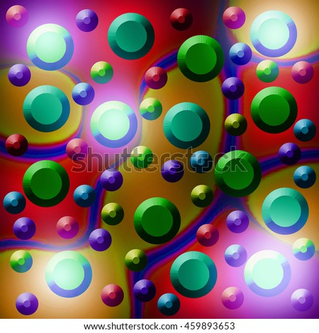 Abstract digital art colorful shadow dot in multi color vivid light background for print on card paper fabric poster and book cover