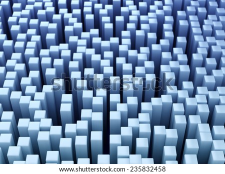 Abstract digital background blue cubes  - stock photo