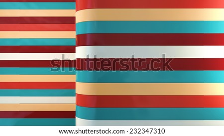 abstract digital background with colorful glossy plastic panels - stock photo