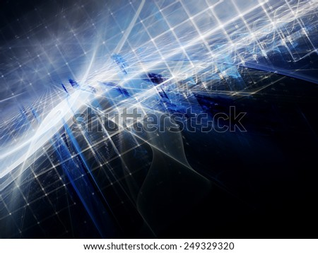 Abstract digital blue background - stock photo