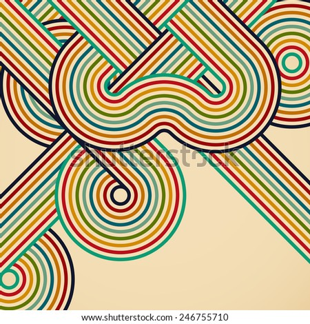 Abstract digital circles vector background - stock photo