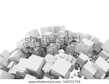 Abstract digital 3d cubes