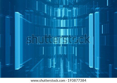 Abstract digital futuristic background - stock photo