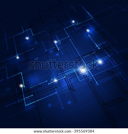 abstract digital geometric digital lines dark blue background