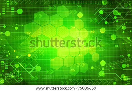 Abstract digital green background - stock photo