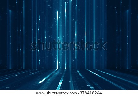Abstract digital science fiction matrix like background - stock photo