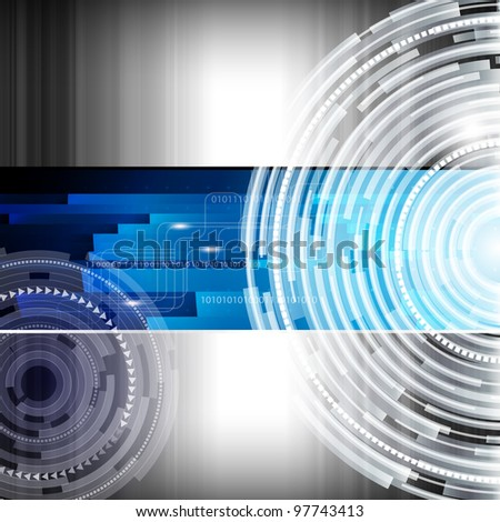 Abstract digital techno background