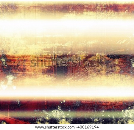 Abstract dirty texture or grungy background. With old style decorative elements and different color patterns: yellow (beige); red (orange); purple (violet); white; pink - stock photo