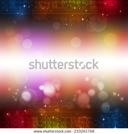 abstract disco and party multicolor music background - stock photo