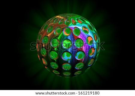 Abstract disco ball - stock photo