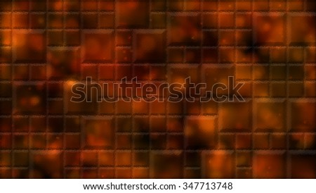 Abstract Distorted Tiled Background Illustration - Orange - stock photo