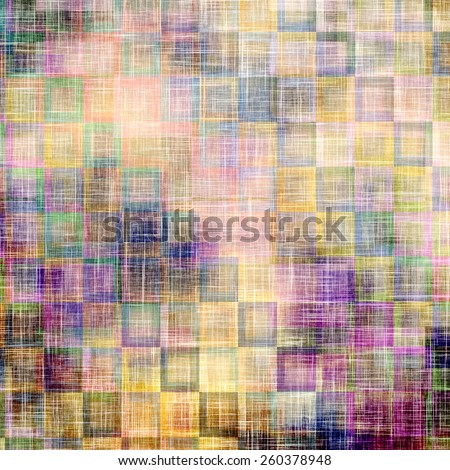 Abstract distressed grunge background. With different color patterns: yellow (beige); blue; purple (violet); green - stock photo