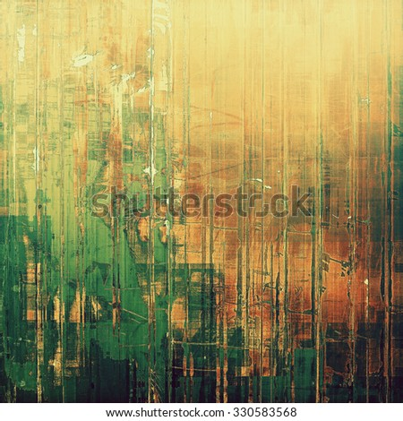 Abstract distressed grunge background. With different color patterns: yellow (beige); brown; green; gray - stock photo