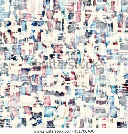 Abstract distressed patchwork motif. Seamless pattern. - stock photo