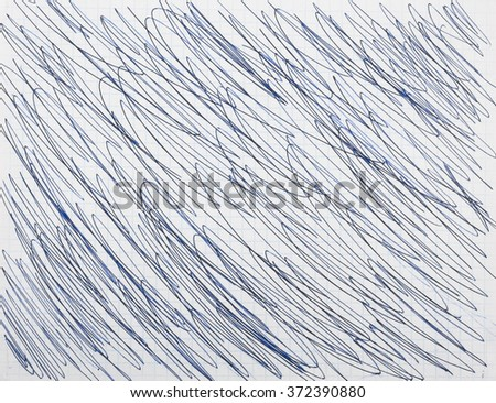 Abstract drawing with a ballpoint pen - stock photo
