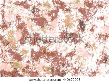 Abstract drawn watercolor crumpled bright background with brushstrokes in brown colors. Gorizontal artistic creative banner. Series of Watercolor, Oil, Pastel, Chalk and Inc Backgrounds. - stock photo