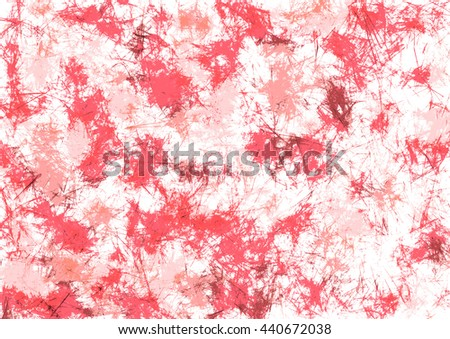 Abstract drawn watercolor crumpled bright background with brushstrokes in red colors. Gorizontal artistic creative banner. Series of Watercolor, Oil, Pastel, Chalk and Inc Backgrounds. - stock photo