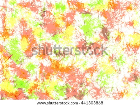 Abstract drawn watercolor crumpled bright background with brushstrokes in yellow and red colors. Gorizontal artistic creative banner. Series of Watercolor, Oil, Pastel, Chalk and Inc Backgrounds. - stock photo