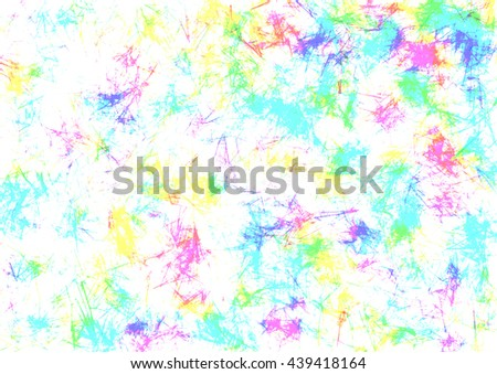 Abstract drawn watercolor crumpled bright light background with colorful brushstrokes. Horizontal artistic creative banner. Series of Watercolor, Oil, Pastel, Chalk and Inc Backgrounds. - stock photo