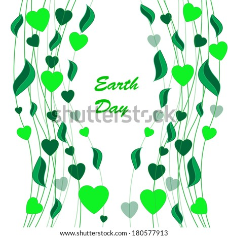 Abstract earth day background isolated on the white phone