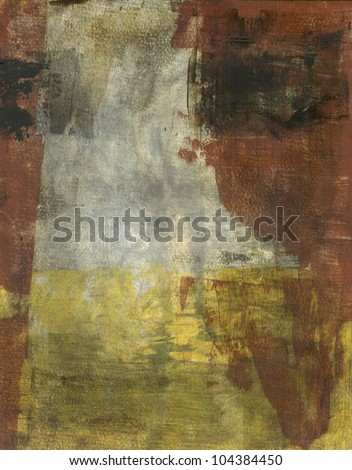 Abstract earth tone colors painting. - stock photo