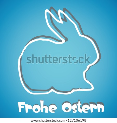 abstract Easter background with german wishes - stock photo